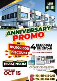 4 bedroom Terraced Duplex for sale Pantheon Smart Homes Is Located Opposite Ocean Bay Estate Along Orchid Hotel Road chevron Lekki Lagos