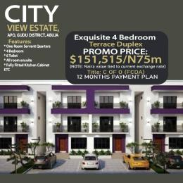 4 bedroom Terraced Duplex House for sale City View Estate, Gudu. Apo Abuja