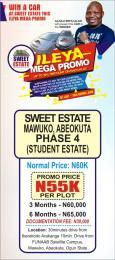 Residential Land Land for sale Federal University Of Agriculture Satellite Campus Mawuko Abeokuta Ogun