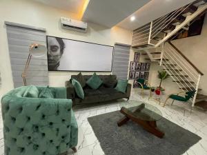 2 bedroom Semi Detached Duplex for shortlet Conservation Road Chevron, Lekki Expressway, Lekki, Lagos. chevron Lekki Lagos