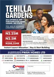 Residential Land Land for sale Avu-Oforola, off portharcourt road, Owerri, Imo State  Owerri Imo