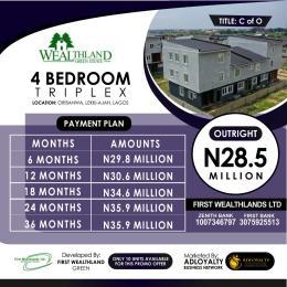 4 bedroom Terraced Duplex for sale Wealthland Green Estate Oribanwa Ibeju-Lekki Lagos