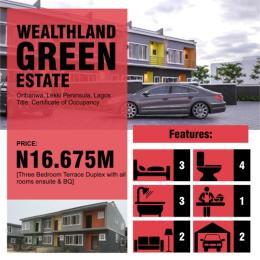 2 bedroom Terraced Duplex House for sale Oribanwa Lekki Phase 2 Lekki Lagos