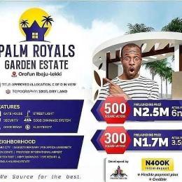 Residential Land Land for shortlet Orofun Ibeju-Lekki Lagos