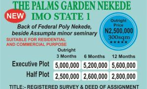 Residential Land Land for sale Nekede Imo State Nkwerre Imo