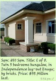 3 bedroom Bungalow for sale Independence Lay Out Enugu North Enugu