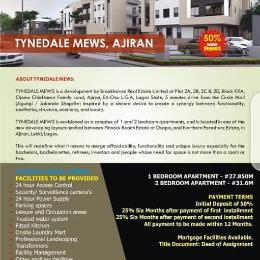 2 bedroom Flat / Apartment for sale Tynedale Mews, Ajiran Between Pinnock Beach Estate At Osaka And Northern Foreshore Estate, Ajiran, Lekki, Lagos. Agungi Lekki Lagos