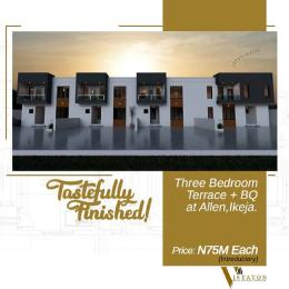 3 bedroom Terraced Duplex House for sale Adegbeyemi street Allen Avenue Ikeja Lagos