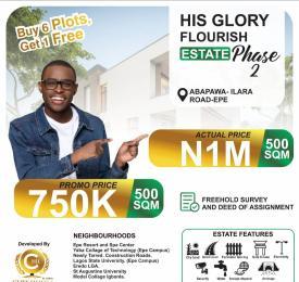 Residential Land Land for sale His Glory Flourish Estate Phase2. Epe Lagos
