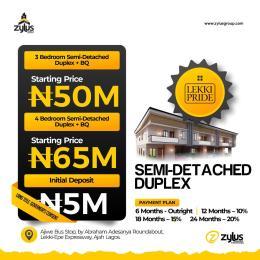 4 bedroom Semi Detached Duplex House for sale Ajiwe bus stop  Abraham adesanya estate Ajah Lagos