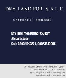 Land for rent Alaka Estate Surulere Lagos
