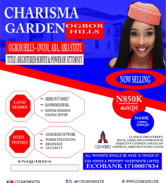 Mixed   Use Land Land for sale Charisma Garden Estate Ogbor Hills - Ovom, Aba, Abia Aba South Abia