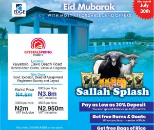 Mixed   Use Land Land for sale Crystal Garden 2 Egin Agoro Behind Amen Estate Ibeju-Lekki Lagos