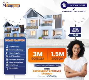 Residential Land for sale Lekki/epe Expressway Eleranigbe Ibeju-Lekki Lagos