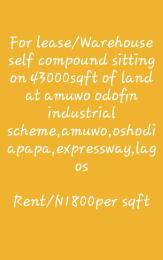 Warehouse Commercial Property for sale Amuwo Odofin Industrial Scheme, Amuwo Odofin Lagos