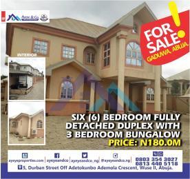 6 bedroom Detached Duplex House for sale Democracy cresent  Gaduwa Abuja