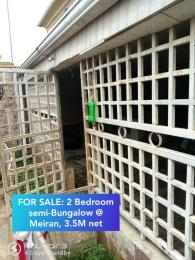 2 bedroom Semi Detached Bungalow House for sale Meiran  Abule Egba Abule Egba Lagos