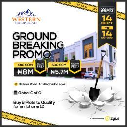 Residential Land Land for sale Western Hiltop Estate, Ait Ikola Road Alagbado Abule Egba Lagos