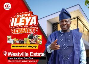 Commercial Land Land for sale Westville estate  Ado Odo/Ota Ogun
