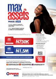 Commercial Land Land for sale Max Asset Phase 3 Adefuyi Community Odogbawojo Village Epe Road Epe Lagos